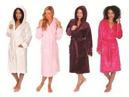 forever dreaming ladies womens super soft hooded dressing gown
