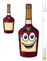 cartoon white wine cartoon smiling alcohol bottle stock vector image 43620084