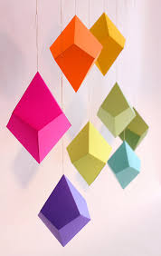 paper diy geometric paper ornaments in the shop