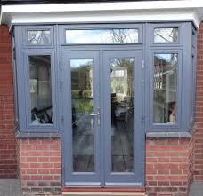 high performance flush casement window and french doors with a
