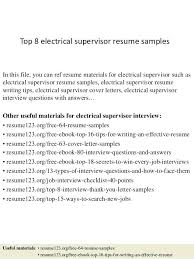 warehouse supervisor resume sample ideas collection electrical