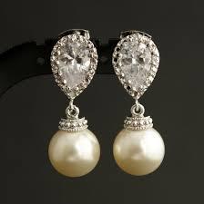 bridesmaid pearl earrings best bridal pearl earrings photos 2017 blue maize