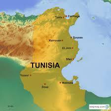 tunisia on africa map tunisia country holidays singapore