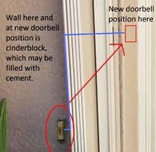 Interior Doorbell Cover Re Locate Doorbell Button Doityourself Com Community Forums