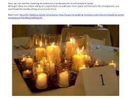 candle centerpiece wedding wedding candle centerpieces