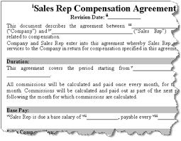 sales commission agreement template california best resumes