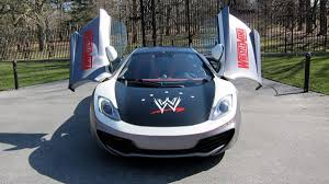 custom mclaren mp4 12c custom wrestlemania mclaren mp4 12c photos wwe