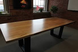 modern wood dining room table for goodly toronto live edge wood