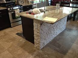 Stone Kitchen Island by Stone Work And Fireplaces Patterson Remodeling Llc