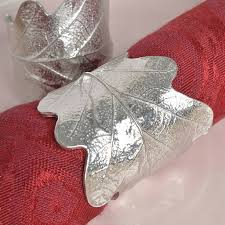 oak leaf napkin rings pair house warming gifts by glover and