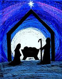nativity pictures child of peace black paper crayons and silhouette