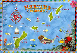 Map Of Guam A Map Of The Mariana Islands A Journey Of Postcards