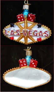 living it up in las vegas personalized ornaments