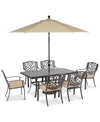 park gate outdoor cast aluminum 7 pc dining set 68
