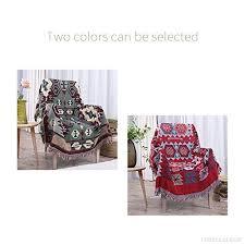 jeter un canapé aztec style jacquard pompon jeter couverture canapé chaise nappe 5