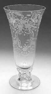 Footed Glass Vase Fostoria Meadow Rose Clear At Replacements Ltd Page 1