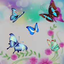 butterfly flower blue butterfly flower theme android apps on play