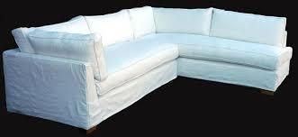 White Slipcovered Sofa by Linen Slipcovered Sectional Sofa Centerfieldbar Com