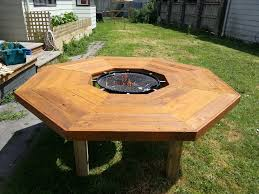 homemade fire pit table i have created an ice bucket fire pit bbq table album on imgur
