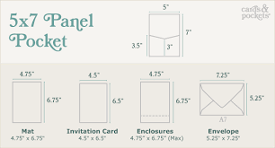 Pocket Envelopes Pocket Invitation 5x7 Panel Pocket Cards U0026 Pockets