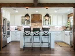 Pics Of Kitchen Islands Two Pendant Lights Illuminate A New Kitchen Island With A
