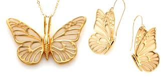 butterfly pendant necklace gold images 24k gold filled butterfly pendant and earring by funwithmillefiori jpg