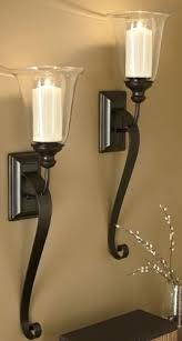 Candle Sconces Pottery Barn Sconce Large Outdoor Wall Candle Holders Rectangle Iron Glass