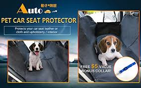 deluxe waterproof pet car seat cover by motion infiniti with bonus