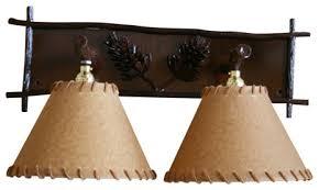 pine cone vanity light southwestern bathroom vanity lighting