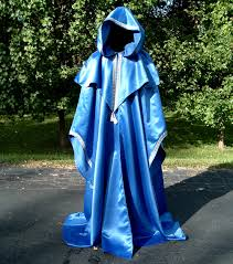 royal blue satin wizards robe by designsbyladyfaire on deviantart