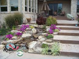 disappearing pondless waterfall landscape ideas lexington