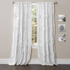 White Lace Shower Curtain by Emma Window Curtain
