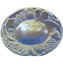pewter platter wilton armetale rwp pewter oval platter fruits banana grapes apple