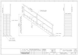 a simple cad drawing for a staircase frame for an apartment