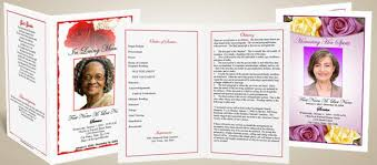 Elegant Funeral Programs Lds Funeral Program Template