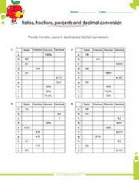 ratios proportions percents fractions worksheets for 6th and