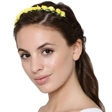 flower hairband yellow flower hairband