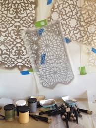 moroccan design stencil pattern classes for decorative painting