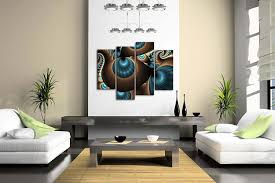 abstract home decor amazon com abstract blue brown like several holes wall art