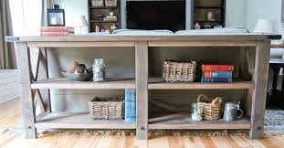Behind Sofa Bookcase Ana White Rustic X Console Diy Projects