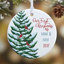 First Christmas Personalized Ornaments - grandparent u0027s first christmas custom ornament christmas gifts