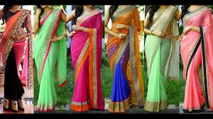 Color Combinations With Orange by Border Attached Designer Sarees In Classy Color Combinations Youtube