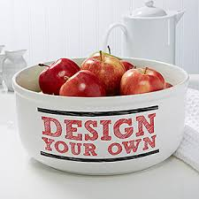 personalized bowl design your own personalized serving bowl