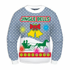 ugly christmas sweaters that light up and sing amazon com forum novelties light up ugly christmas sweater clothing