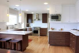 Staining Kitchen Cabinets White Cabinet Walnut Stained Kitchen Cabinets Best Walnut Kitchen