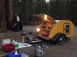 tiny yellow teardrop fall teardrop camping
