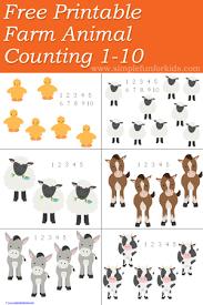 printable animal activities farm animal counting 1 10 printable farming animal and free