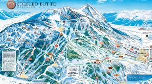 Colorado Ski Areas Map by Crested Butte Skiing Ski Crested Butte Terrain Snow