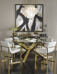 too much for me but black white and gold would lift the dining