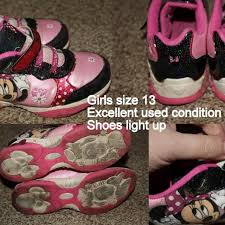 minnie mouse light up shoes best minnie mouse light up shoes sz 13 for sale in bellingham